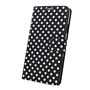 NEW Wave Dot Pattern PU Leather Case With Card Slot For Samsung Galaxy Note 3 N9000 (Assorted Colors) , Black