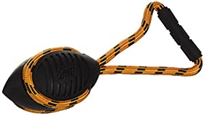 "durable service Nerf Dog Toys Twister Tug, 10.25"", Red/Orange"