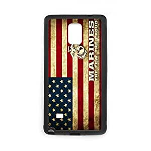 New Arrival United States Marine Corps (USMC) Logo Semper FI Black Plastic and TPU Cell Phone Cases Cover for SamSung Galaxy Note 4 case