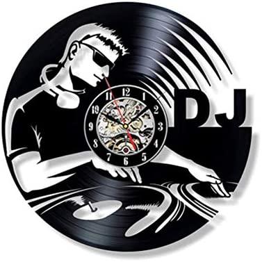 Hbbhbb Disco De Vinilo Reloj De Pared Moderno DJ Rock Reloj ...