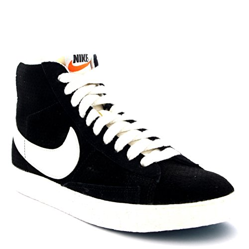 Nike Womens Blazer Mid Suede Vintage Casual Lace Up Sneakers Shoes - Black/White - 8.5
