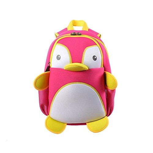 Kids penguin Toddler Backpack 3D Cute Zoo Cartoon School Boys Girls Bags
