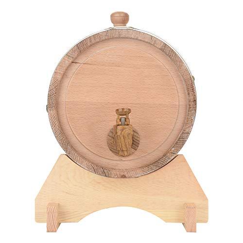 Oak Barrel, 5L Vintage Wood Oak Timber Wine Barrel Dispenser for Whiskey Aging Barrel Bourbon Tequila Brewing Port Kegs (5L) by Yosooo (Image #5)