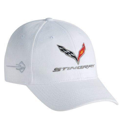 C7 Corvette Stingray Chino Baseball Hat (White)