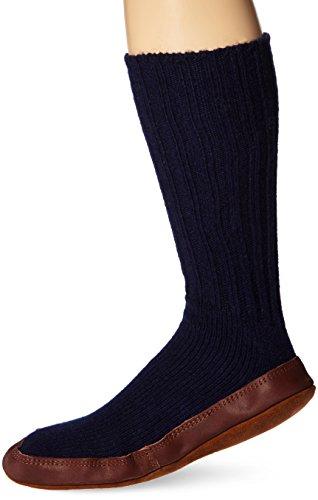 Acorn Unisex Sock Slipper, Cobalt Ragg Wool, Medium(9.5-10.5...