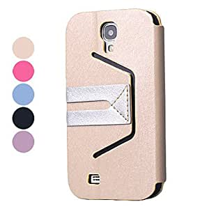 get Imecoo PU Leather Case with Stand for Samsung Galaxy S4 I9500 (Assorted Colors) , Pink
