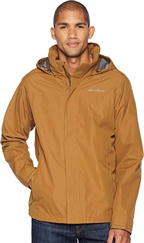 Eddie Bauer Mens Packable Rainfoil Jacket Aged Brass LG