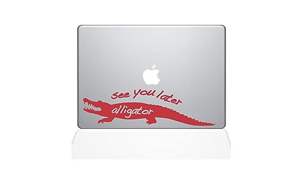 1165-MAC-11A-BG Pink 11 MacBook Air The Decal Guru See You Later Alligator MacBook Decal Vinyl Sticker