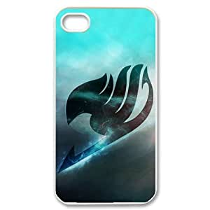 4S Case,TPU iPhone 4s Case,Fairy Tail Design Fashion Pattern Hard Back Cover Snap on Case for iPhone 4 / 4s (Black/white)