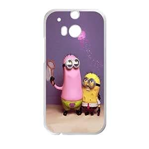Sponge Bob Wallpaper HTC One M8 Cell Phone Case White Exquisite gift (SA_705748)