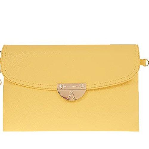Pash bag Bolso cruzados para mujer Amarillo amarillo 25x16.5x4cm