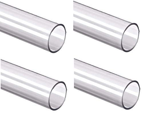 """1 7//8/"""" ID x 2/"""" OD x 1//16/"""" Wall Polycarbonate Tubing Clear Color 24/"""" L"""