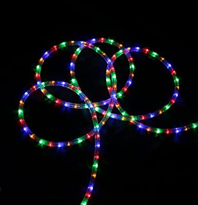 150' Commericial Multi-Color LED Indoor/Outdoor Christmas Rope Lights on a Spool