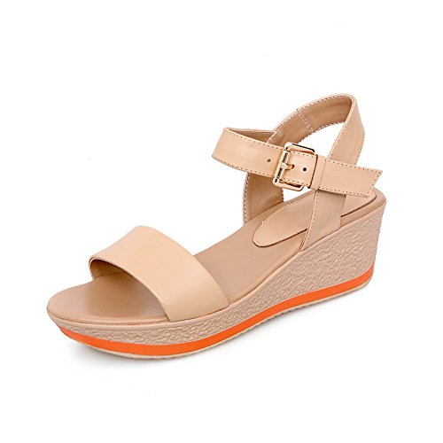 Adee Ladies Rain Open-Toe Leather Sandals apricot 7ltuG0zQtx