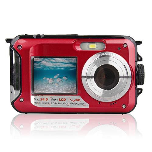 ONLYGAZI Action-Kamera, Unterwasserkamera 2,7 K Full HD 48,0 MP wasserdichte Digitalkamera Selfie Dual Screens…