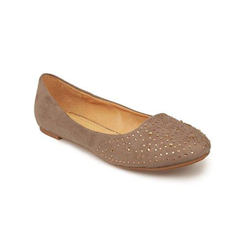 La Modeuse - Bailarinas para mujer gris - marrón
