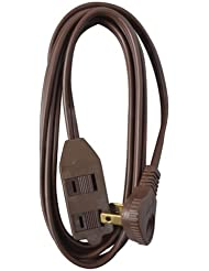 Master Electrician 09409ME 11-Foot Flatplug Extension Cord Low Profile, Brown