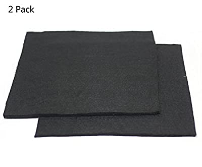 HiwowSport High Temp Carbon Fiber Welding Protective Blanket, Torch Shield Heat Sink Slag Fire, Color Black