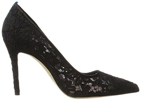 SJP by Sarah Jessica Parker Women's Fawn Closed-Toe Pumps Black (Lace Col 1) B15m5OcXa