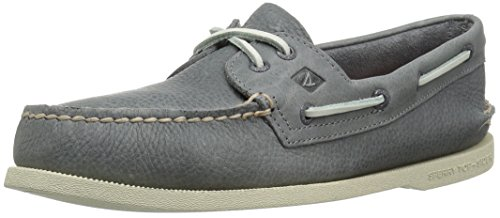 Sperry Top-Sider Men's a/O 2-Eye Daytona Boat Shoe, Grey, 9.5 Medium US