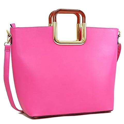 Dasein Women's Designer Tote Bags Large Shoulder Bags Laptop Handbags Work Bags w/ Strap - Pink Laptop Tote