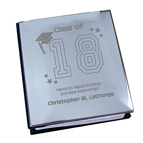 GiftsForYouNow New Beginnings Graduation Silver Album, Holds up to 100 Photos -