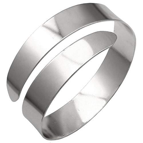ALoveSoul Adjustable Silver Upper Arm Fashion Jewelry Armlet Armband Bracelet Cuff Bracelets for Women ()