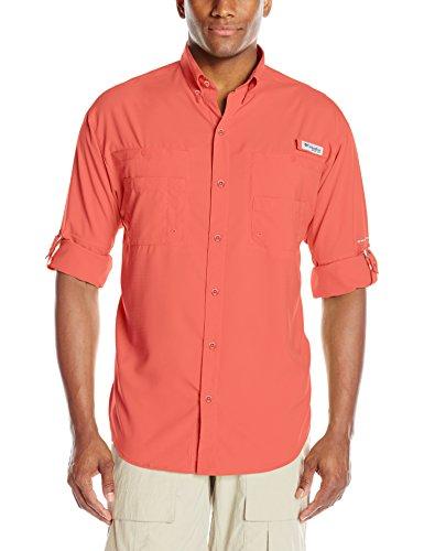 Columbia Men's Tamiami II Long Sleeve Shirt, Sunset Red, XX-Large
