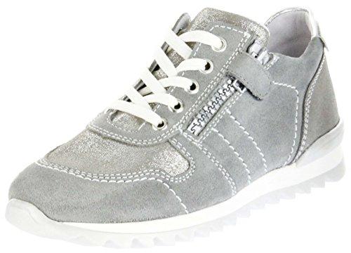 Richter Kinder Halbschuhe Sneaker Grau Velourleder Mädchen Schuhe 3729-731-6101 Tosca Grau