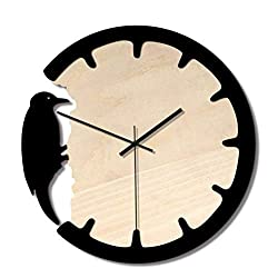 ZYK Watches - Creative Woodpecker Wall Clock, Non-tick Mute Hanging Fashion Simple Home Wall Clocks, No Punch Bells