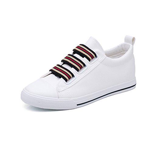 Ladies, Ein Fuß Auf Die Faulen Schuhe.,Flache Leinenschuhe,Koreanische Version Der Studenten Hundert Weiße Schuhe.Board Schuhe A