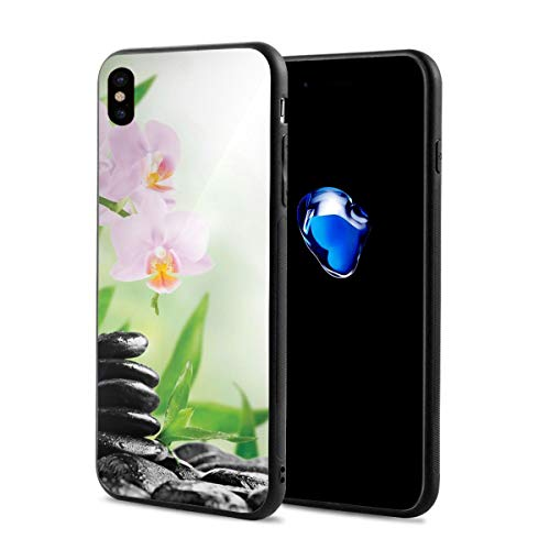 - Phone Case Cover Compatible with iPhone X XS,Zen Basalt Stones and Orchid with Dew Peaceful Nature Theraphy Massage Meditation,Compatible with iPhone X/XS 5.8