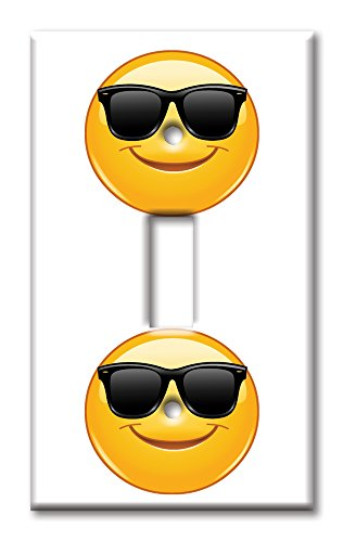Cool Shades Emoji Light Switch Cover