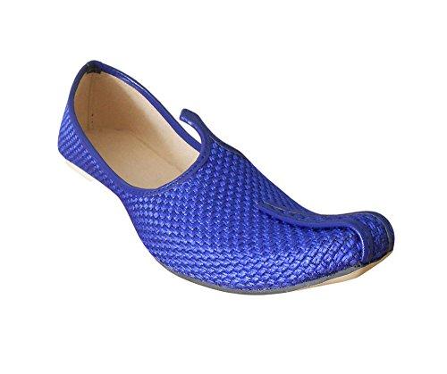 Indien Fait Creations Jute Parti Main En Hommes Pour Traditionnel Chaussures Kalra Bleu De ORpwRZ