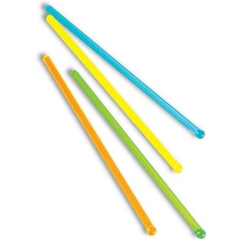 Epic 93-165 6.5'' Assorted Translucent Colored Drink Stirrers (Set of 12)