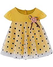 Vestidos niña otoño | Vestido de Princesa con Volantes de Encaje y Estampado de Pera de Manga Corta para bebés bebés 3-24 Meses