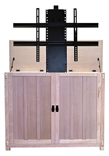 "(Touchstone 72106 - Elevate TV Lift Cabinet - TVs Up to 50 Inch Diagonal (45"" Wide TV) – Mission Unfinished - 50 in Wide - Quiet & Quick Whisper Lift II TV Lift – Wired & Wireless RF Remote)"