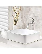 VOKIM Porcelain Ceramic Vessel Sink Combination
