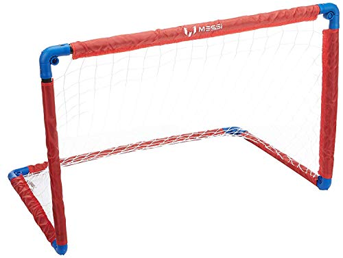Messi Training System Foldable Kid's Soccer Goal - 3ft. Professional Youth Training Net for Practicing Shot Accuracy, Foot Control, and Other Football Skills - Great for Outdoor, Park, Playground