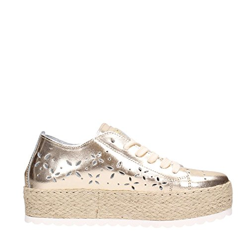 Pelle Forata Guess Sneaker in Marley Corda Scarpe Platino Donna FLRLY2LEA12 White wCq0xqRFYn