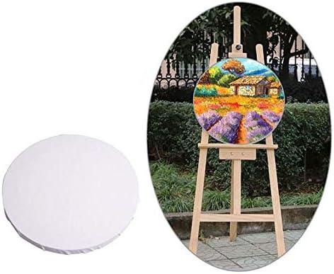 ホワイトパネルラウンドキャンバスボード木枠絵画