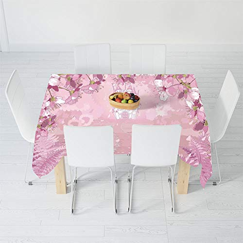 Waterproof Tablecloth,Fantasy,for Dining-Table Tea Table Desk Secretaire,40.2 X 20.1 Inch,Fairy Medieval Castle Silhouette in The Middle