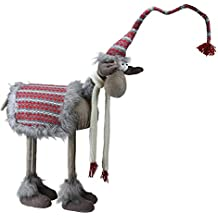 """Northlight 29"""" Decorative Standing Bobble Action Nordic Christmas Moose Figure"""