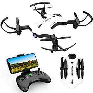 DROCON Ninja Drone for Kids & Beginners FPV RC Drone with 720P HD Wi-Fi Camera,Quadcopter Drone with Altitude Hold, Headless Mode, Foldable Arms, One Key take Off/Landing, White 41QfPaiOVVL