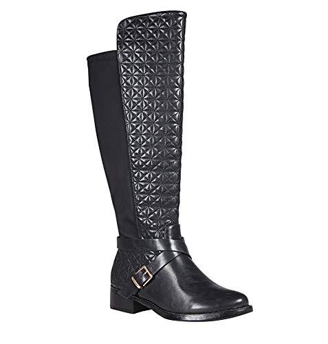 (Avenue Women's Tess Quilt Gore Back Boot, 11 Black)