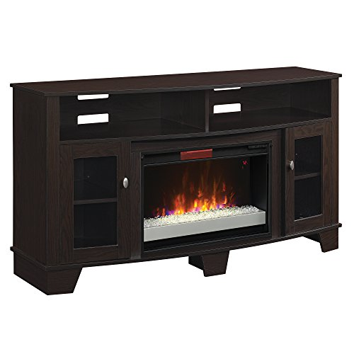 Oak Fireplace Screen (Classic Flame 26MM4995-PE91 La Salle TV Stand for TVs up to 65