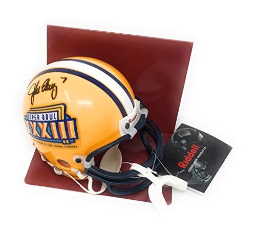 Elway Denver John Broncos (John Elway Denver Broncos Signed Autograph Super Bowl XXXIII Mini Helmet Elway Player Hologram Certified)