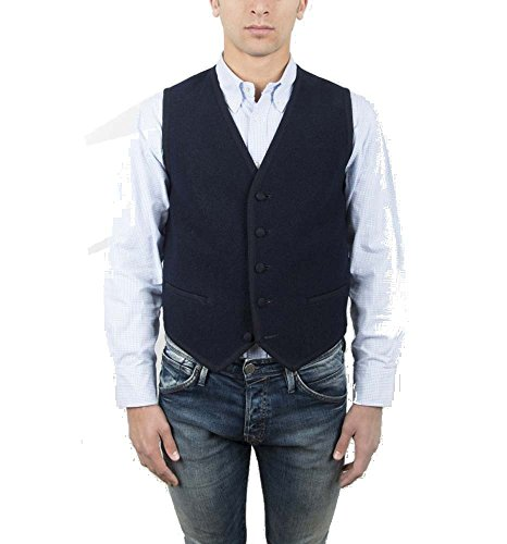 Vest, Gilet, Waistcoat, Knitwear, Men, Boy, Blue, Navy, Green, Wool, Buttons, Pockets, Casual, Business, Formal, Tailored, Sleeveless, Italian Fabric, Italian Style, Made in Italy, Handmade by Old Fashion Sartoria, Florence, Italy
