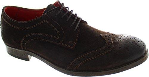 Base London Coniston Herren Schuhe mit Schnürung Braun