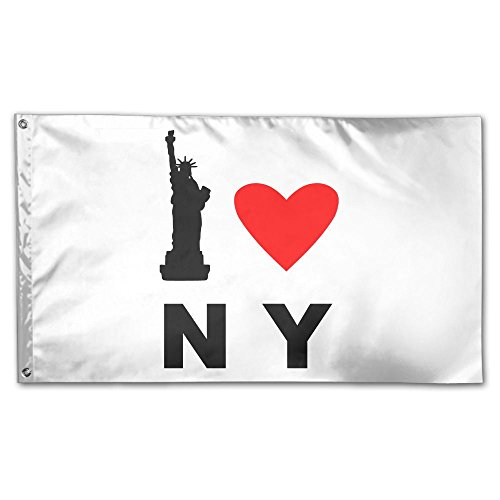 Colby Keats I Love NY New York Garden Lawn Flags Indoor Outdoor Decoration Home Banner Polyester Sports Fan Flags 3 X 5 Foot]()